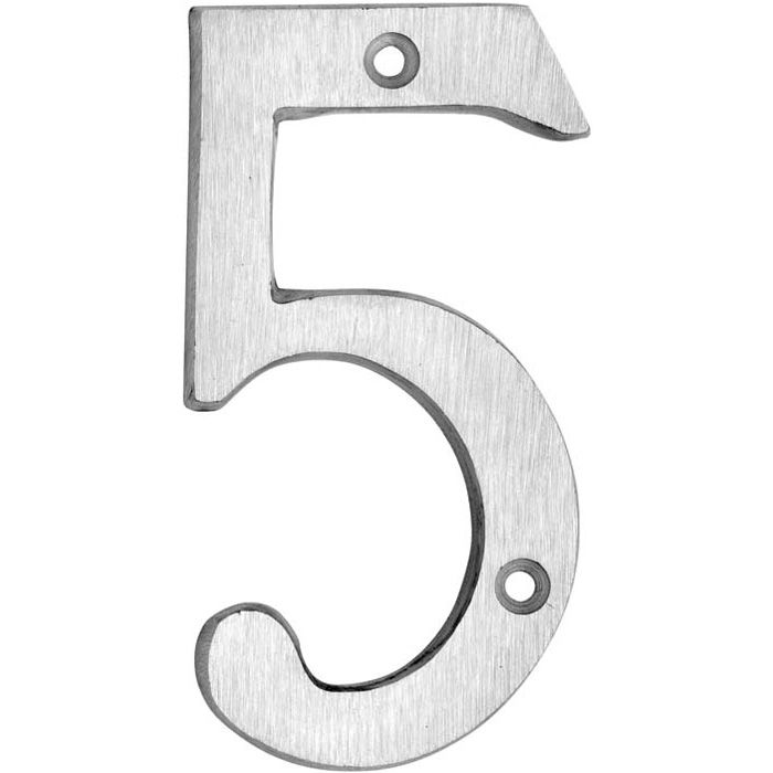 HOUSE NUMBERS, CLASSIC House Numbers — Brushed Aluminum-5
