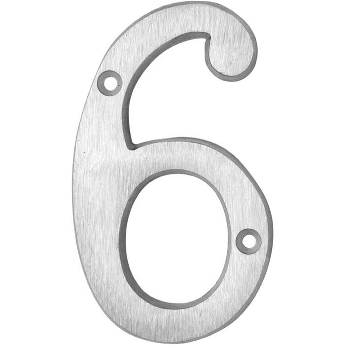 HOUSE NUMBERS, CLASSIC House Numbers — Brushed Aluminum-6
