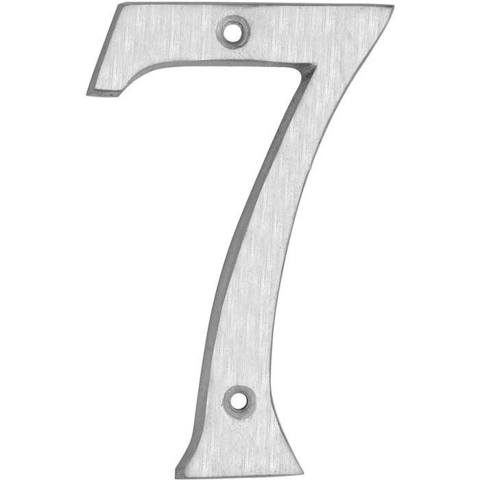 HOUSE NUMBERS, CLASSIC House Numbers — Brushed Aluminum-7