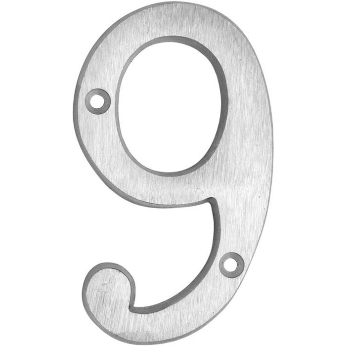 HOUSE NUMBERS, CLASSIC House Numbers — Brushed Aluminum-9