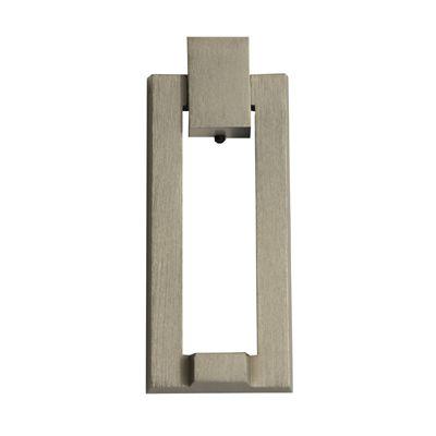 DOOR KNOCKER, MODERN Door Knocker — Satin Nickel