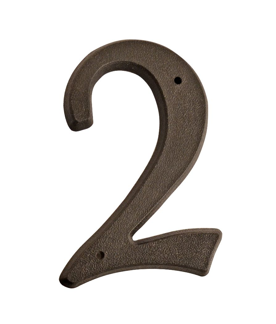 HOUSE NUMBERS, SCRIPT House Numbers — Black-2