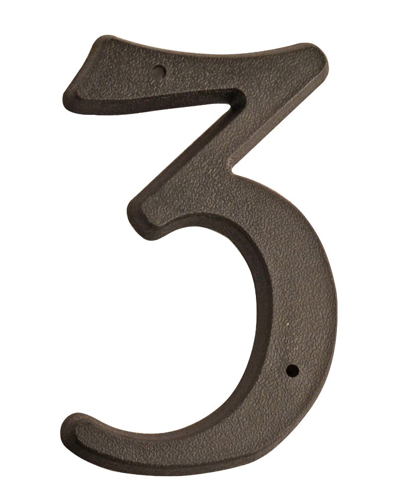 HOUSE NUMBERS, SCRIPT House Numbers — Black-3