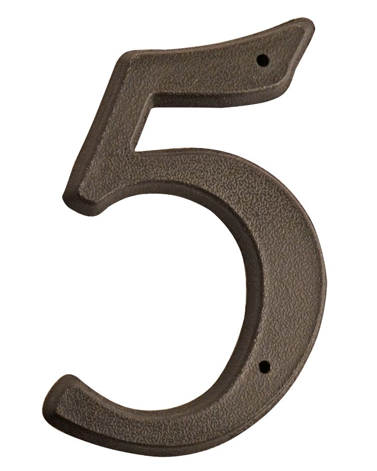 HOUSE NUMBERS, SCRIPT House Numbers — Black-5