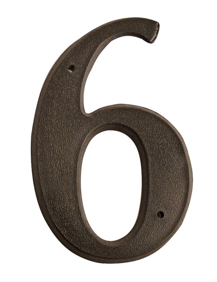 HOUSE NUMBERS, SCRIPT House Numbers — Black-6
