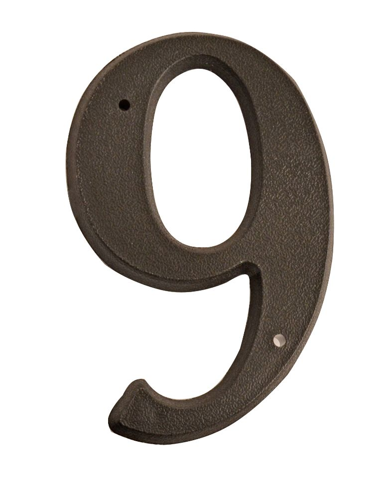 HOUSE NUMBERS, SCRIPT House Numbers — Black-9