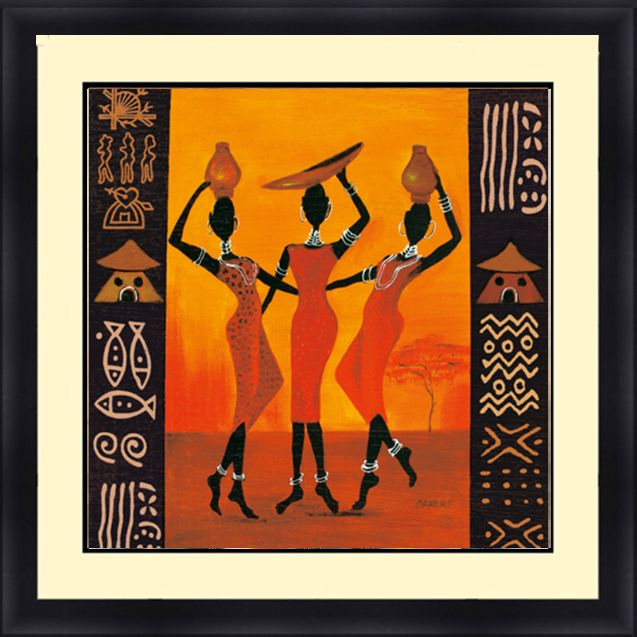 African American 30 x 30 Framed, Available In Custom Sizes