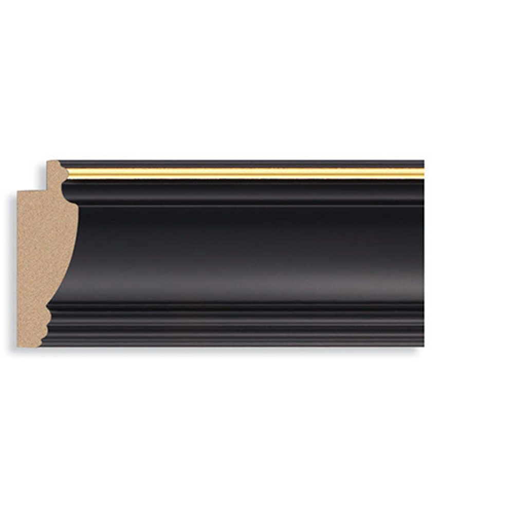 Black 2 9/16 inch Width Contemporary