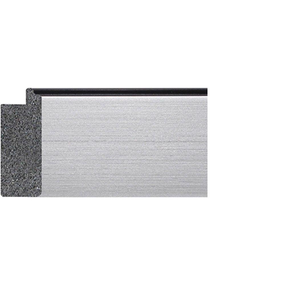 Silver w/Black Trim 2 inch Width Contemporary
