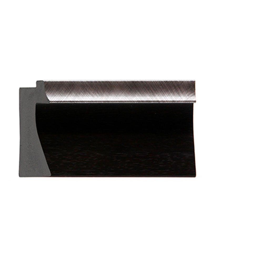 Espresso w/Silver Trim 2 3/16 inch Width Contemporary