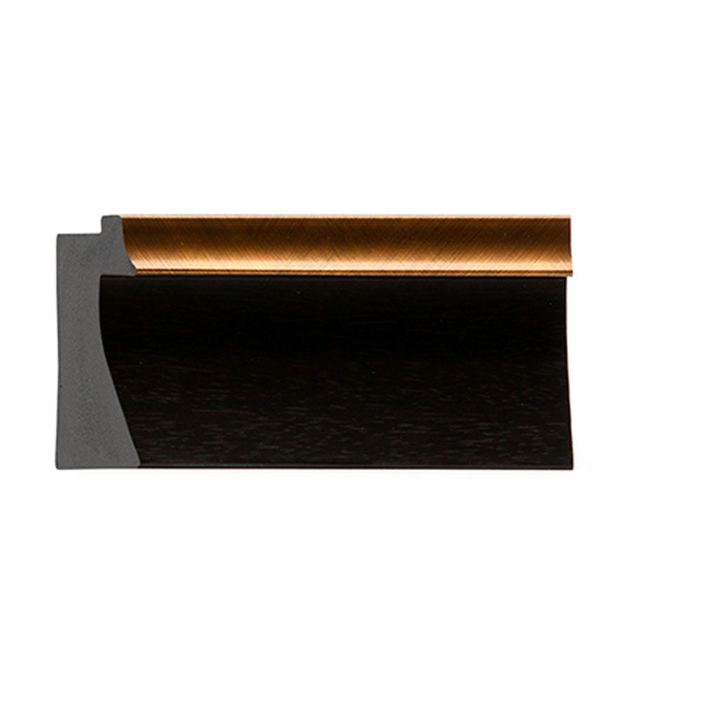 Espresso w/Gold Trim 2 3/16 inch Width Contemporary
