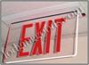 Recessed Mount, Edge-Lit Exit Sign