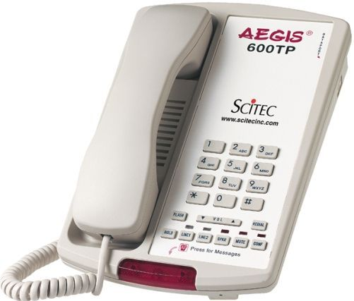 Two-Line Hotel Phone with Built-in Speakerphone, Ash