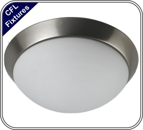 36w Ceiling Fixture Brushed Nickel Finish