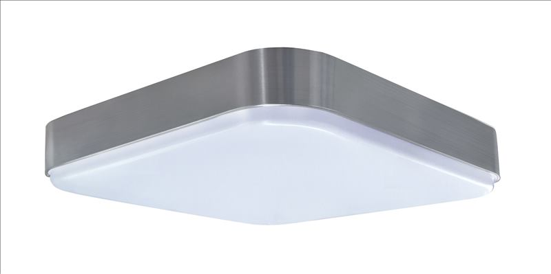 LED 14 inch square ceiling light with BN trim