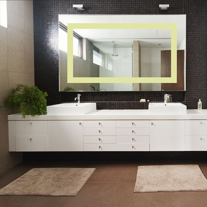 Led Lighted Mirror Warm White 36 x 48