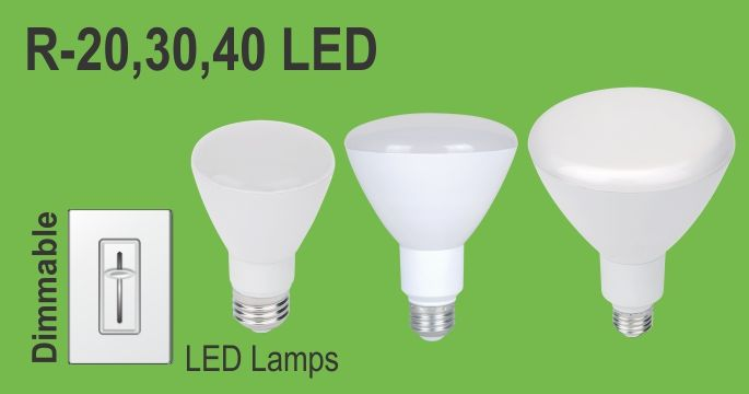 18W LED R40 Bulb Dimmable - 3000K