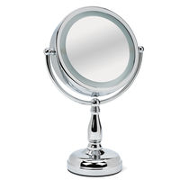 Lighted Tabletop Mirror, Chrome