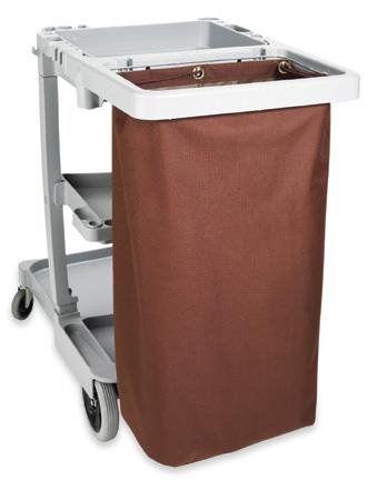 Housekeeping Cart Replacement Bag, Grommets, Medium, Brown