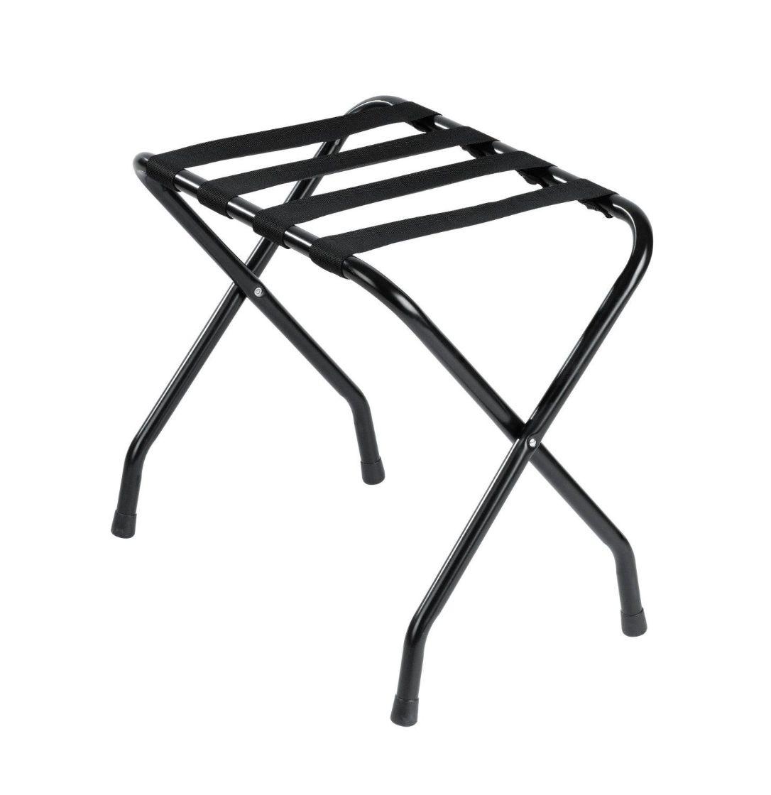 Metal Luggage Rack, Black Powder Coated, Standard