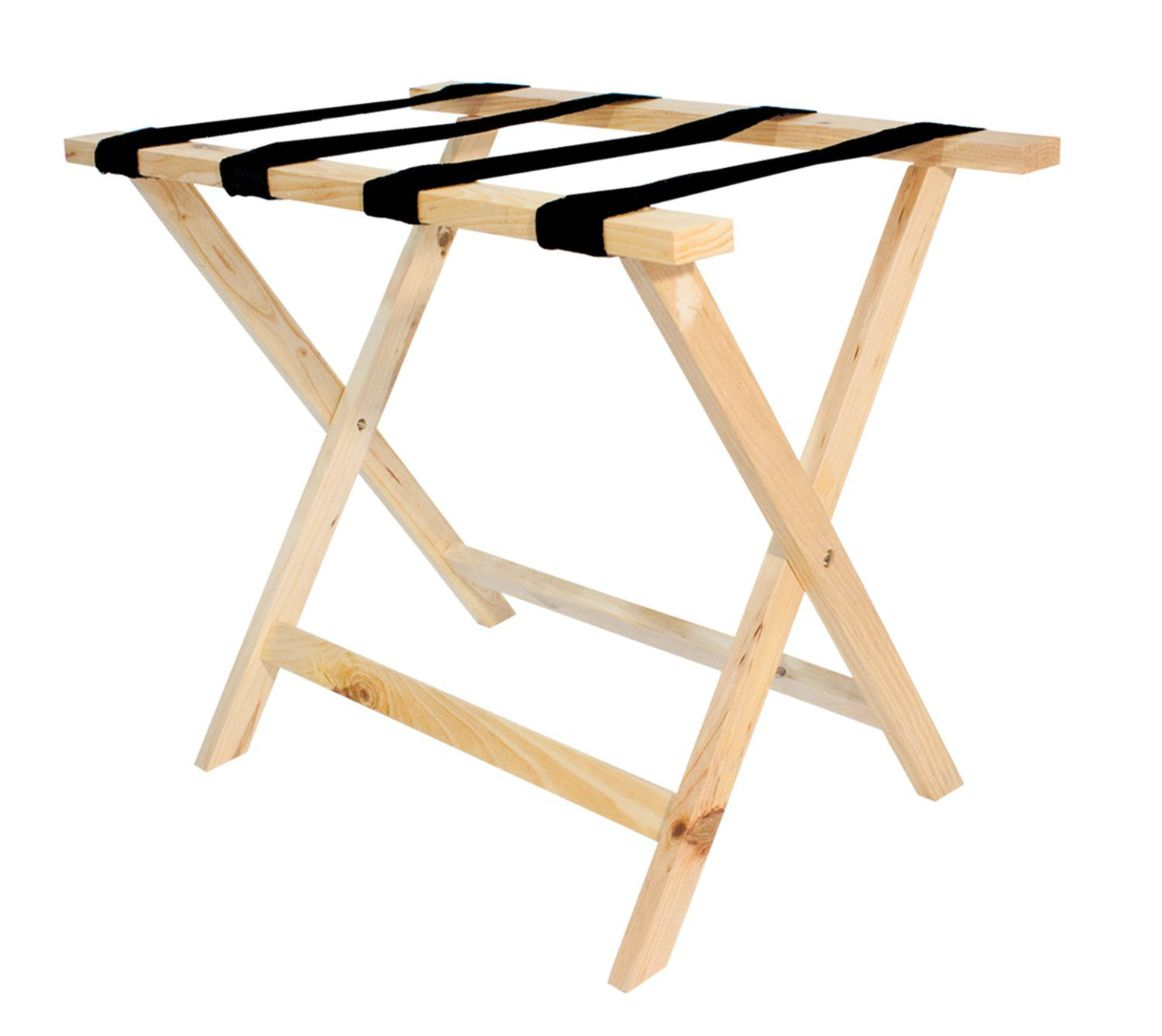Wooden Luggage Rack, Natural Finish, Standard