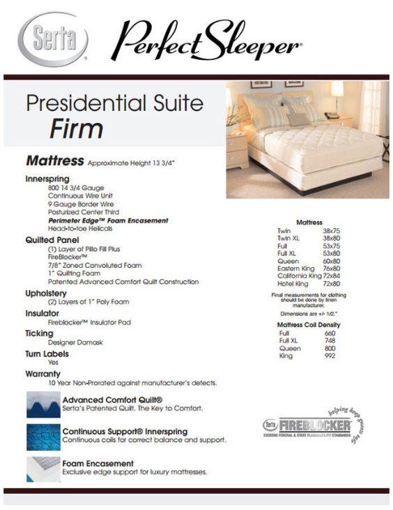 Presidential Suite Firm