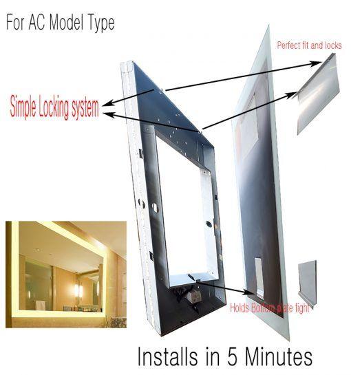 Led Lighted Mirror-Drawings-36×48