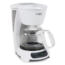 Mr. Coffee 4-Cup Coffeemaker, White