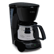 Mr. Coffee 4-Cup Coffeemaker, Black with Stainless Steel Carafe