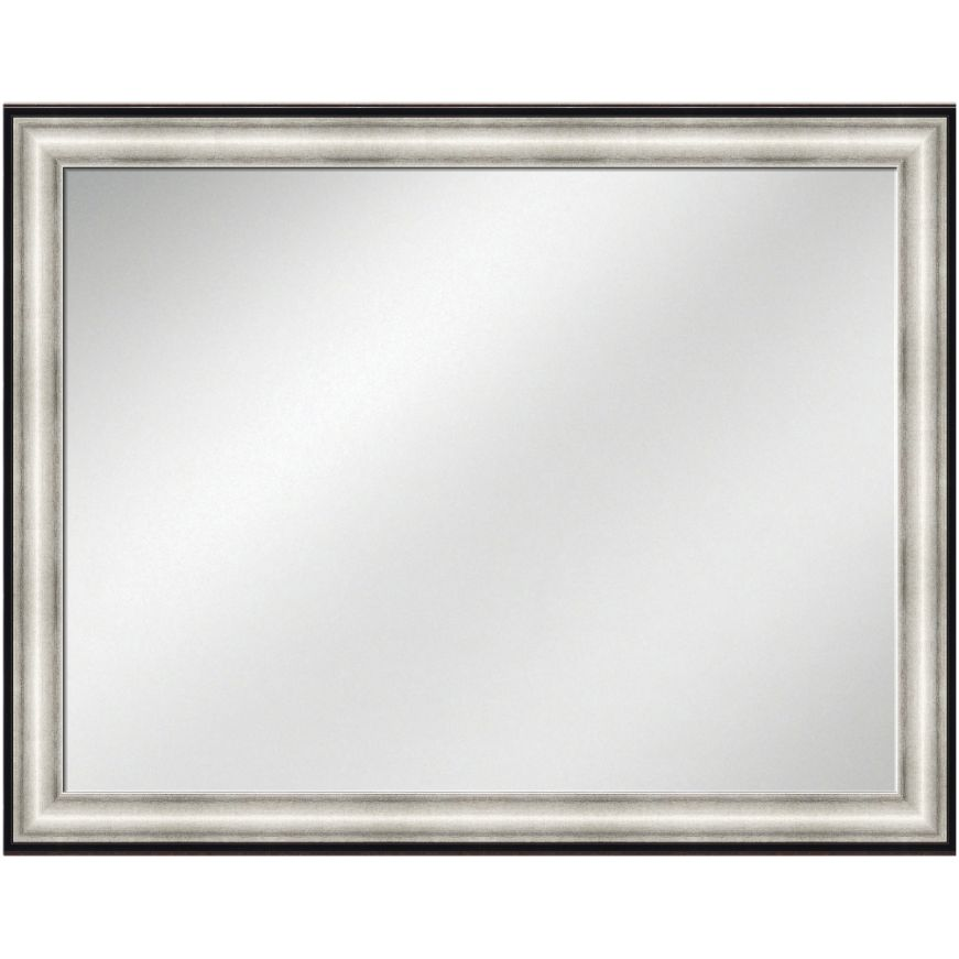 Vanity Mirror Silver w/ Black line Frame 36 x 48