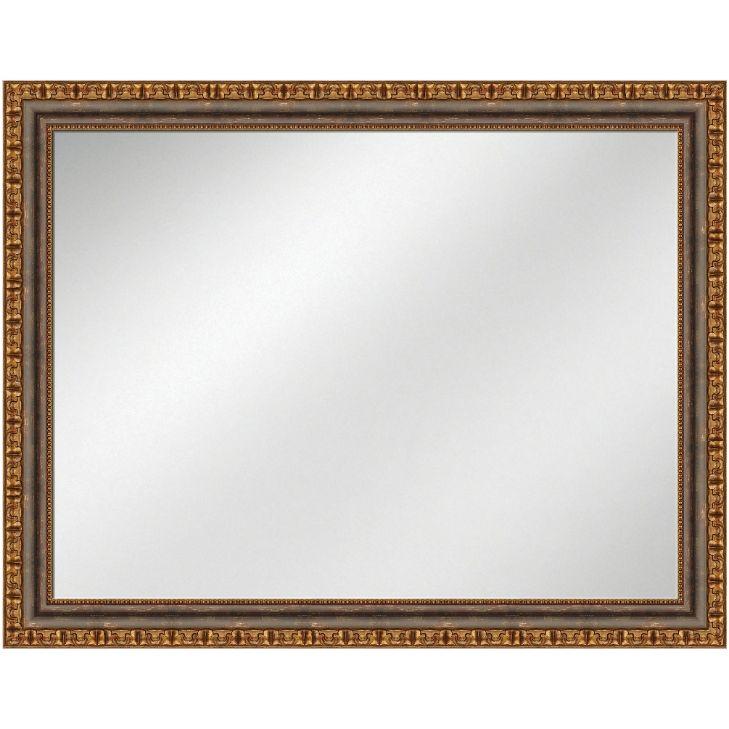 Vanity Mirror Mahogany w/gold Frame 36 x 48