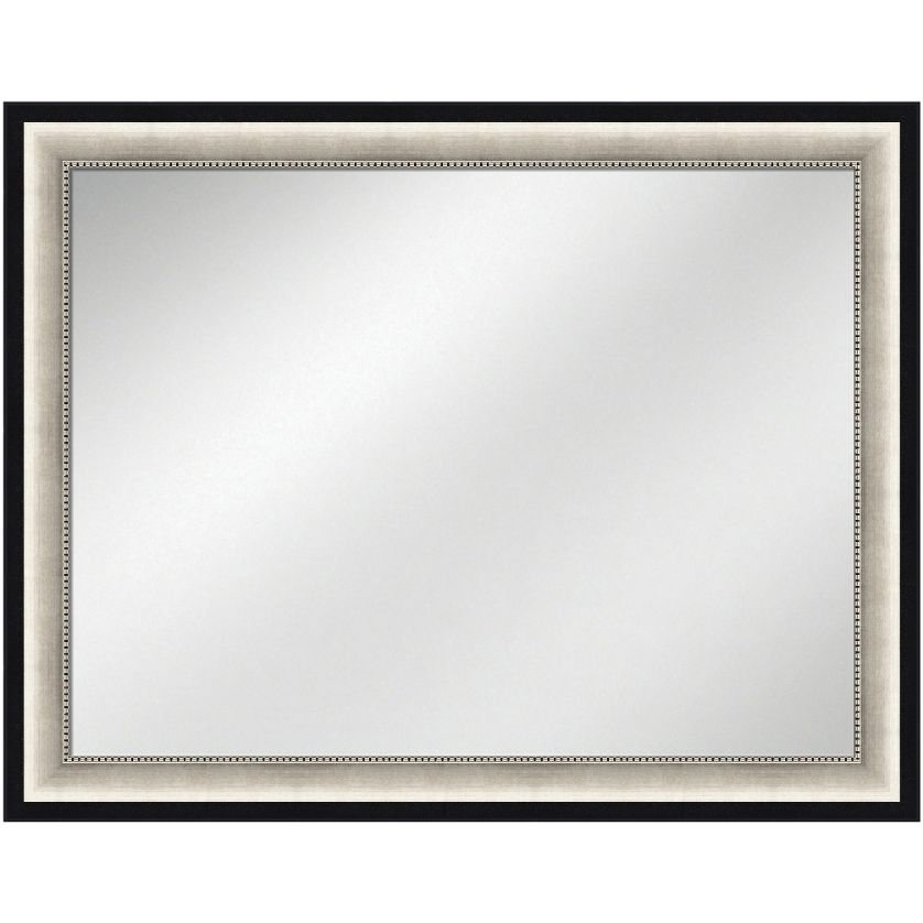 Vanity Mirror Silver w/black Frame 36 x 48