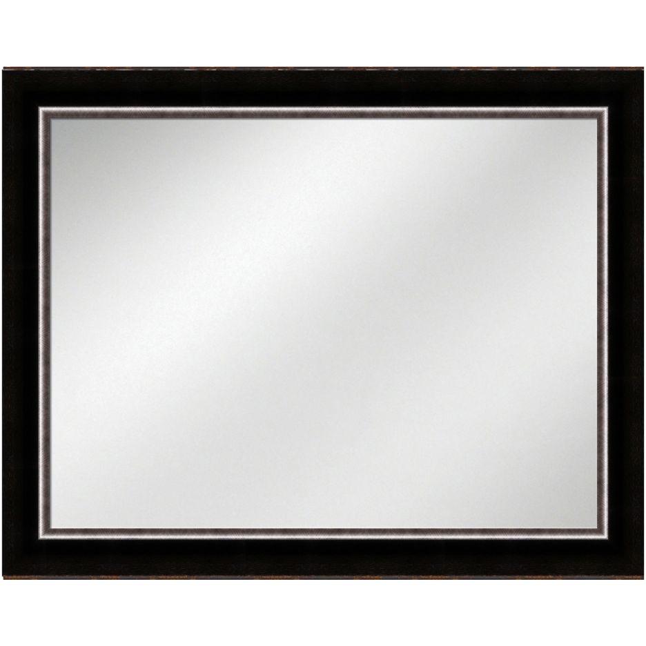 Vanity Mirror Dark Espresso Frame 36 x 48