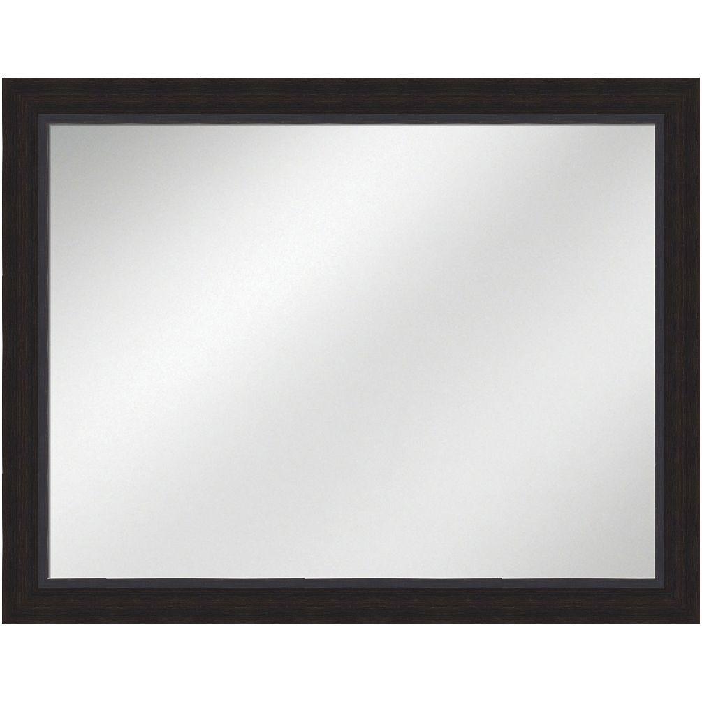 Vanity Mirror Espresso Frame 36 x 48