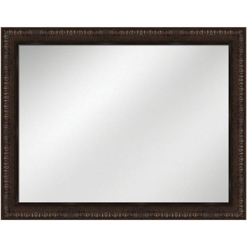 Vanity Mirror Dark Mahogany Frame 36 x 48