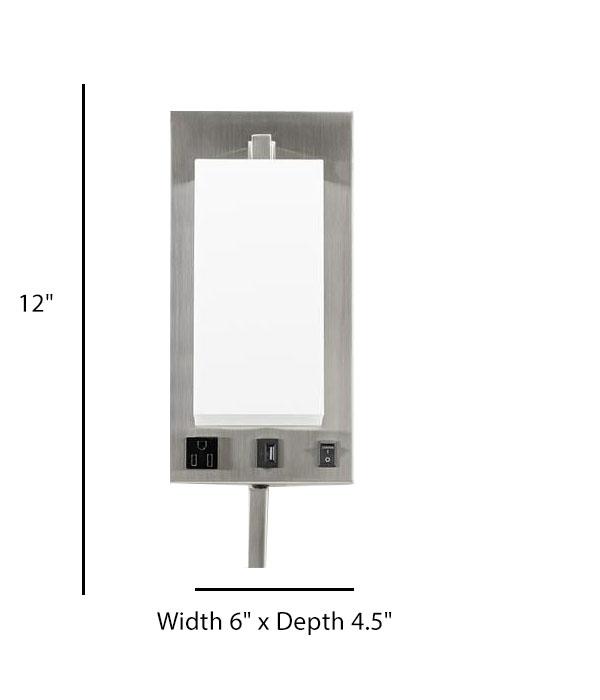 Single Wall Lamp Acrylic Shade