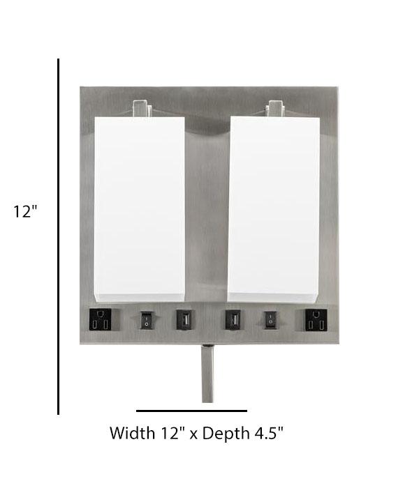 Double Wall Lamp Acrylic Shade