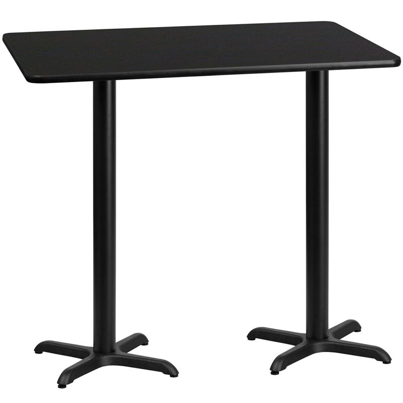 Laminate Table Top with 22'' x 22'' Bar Height Table Bases