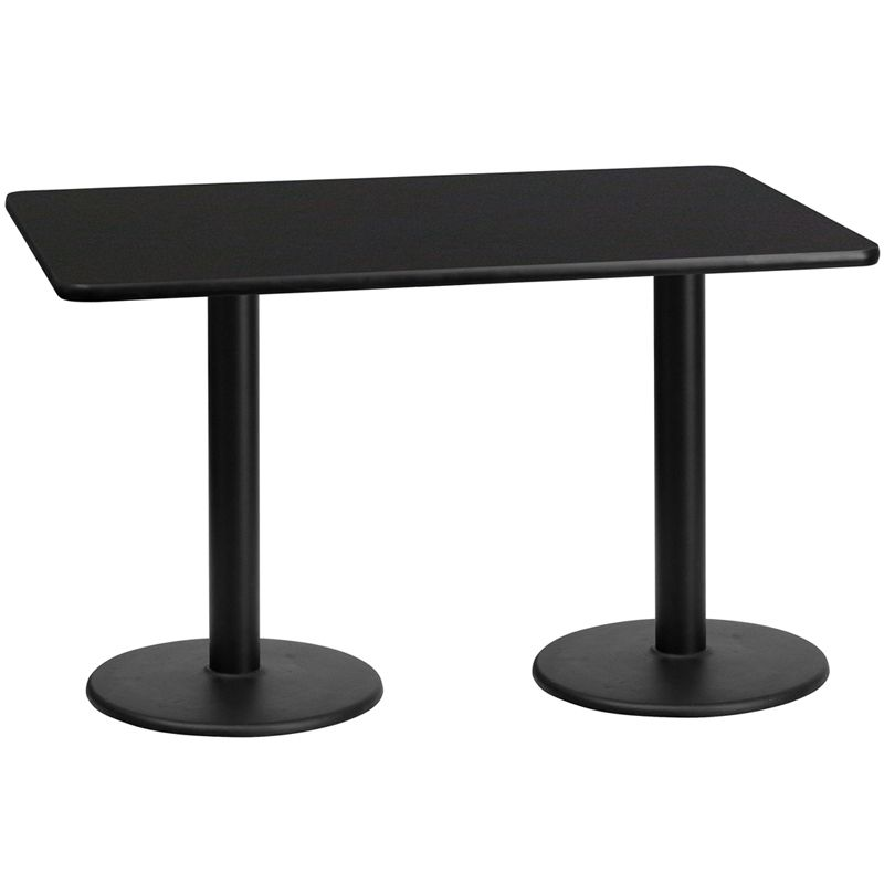 Table Top with 18'' Round Table Height Bases