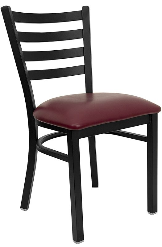 Restaurant Chair - Burgundy Vinyl Seat