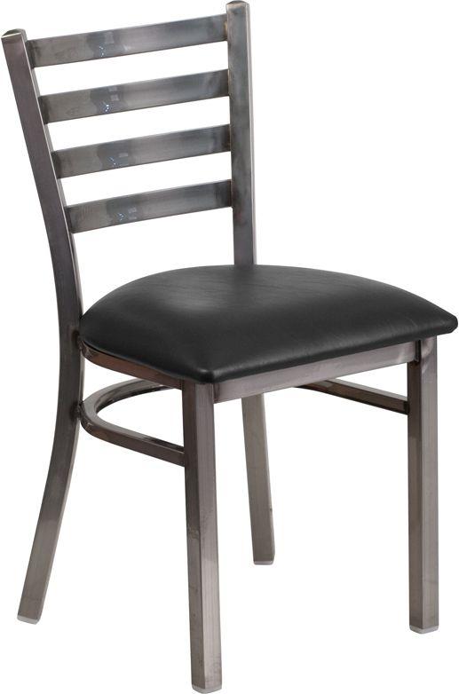 Restaurant Chair - Black Vinyl Seat