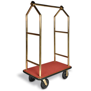 Angled Top Heavy Duty / 26 Gold Bellman's Cart
