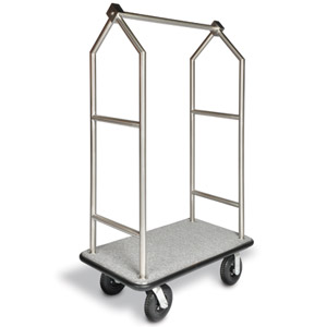 Angled Top Heavy Duty / 26 Stainless Bellman's Cart