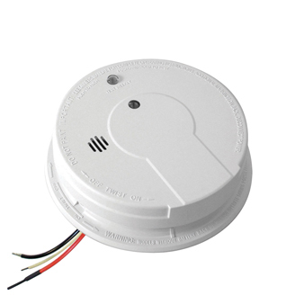 AC Hardwired Interconnect Smoke Alarm with Hush i12040