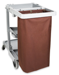 Housekeeping Cart Replacement Bag, Grommets, Large, Brown, PVCB08
