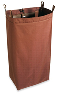 Housekeeping Cart Replacement Bag, Loops & Snaps, Medium, Brown, PVCB01