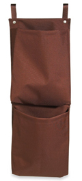 Housekeeping Caddy Bag, 2 Pocket Recycling Bag, Brown, PVCAD2