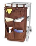 Housekeeping Caddy Bag, 6 Pocket , Brown, PVCAD6