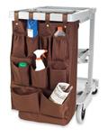 Housekeeping Caddy Bag, 9 Pocket , Brown, PVCAD9